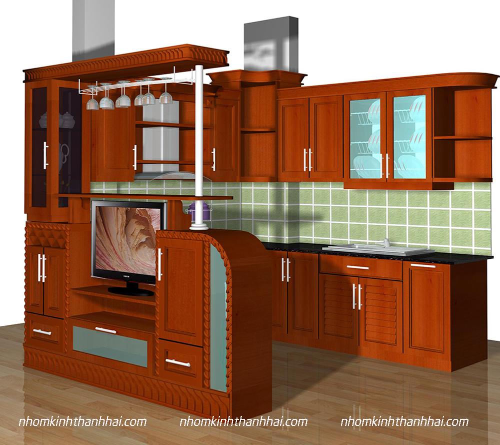 Tủ bếp nhôm kính Hà Tĩnh